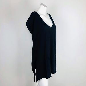 Truly Madly Deeply V-Neck Oversize Tunic Tee Slits
